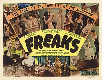 Freaks Movie featuring sideshow performers