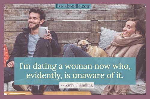 Garry Shandling joke on his girlfriend image