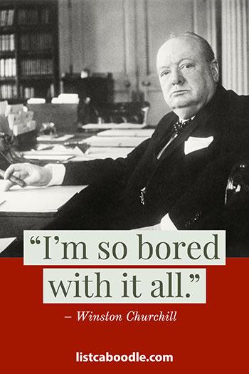 Churchill last words