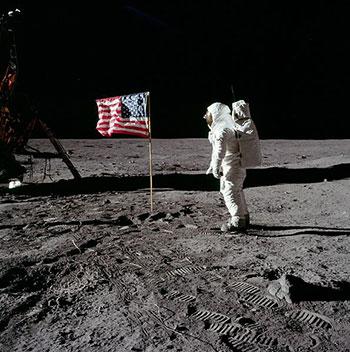 Man on the Moon Flag