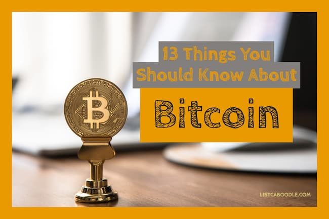 13 Things you should know about bitcoin image