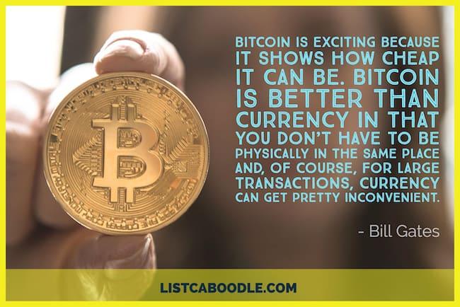 Bill Gates quote on Bitcoin