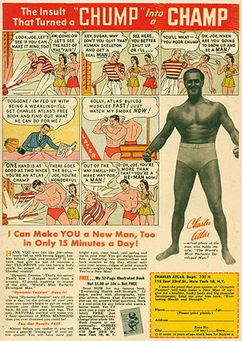 Comic Mail Order Ads: Charles Atlas Ad