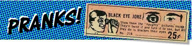 Comic book mail order ads Pranks image