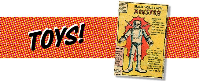 Comic book mail order ads Toys image