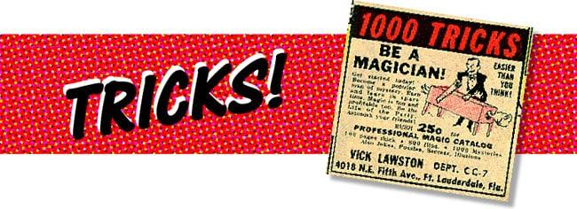 Comic book mail order ads Tricks image