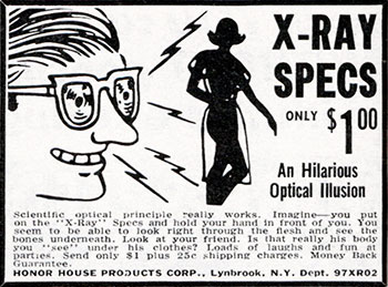Comic Mail Order Ads: X Ray Specs image