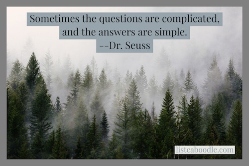 Dr. Seuss quote on answers image