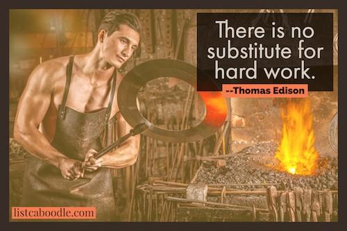 Thomas Edison on hard work image