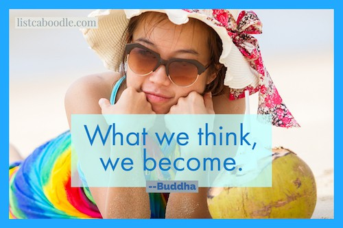 Short positive quotes: What we think, we become quote image