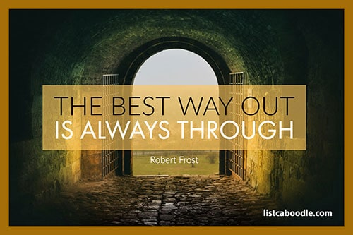 Best way out - cute short sayings image