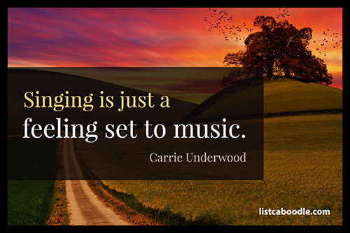 Song Quotes: Carrie Underwood quote