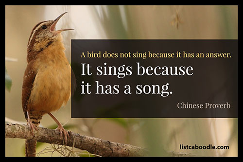 Song Quotes: Chinese Proverb quote