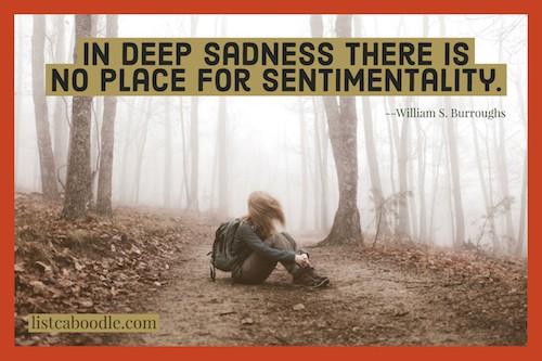 deep quotation on sadness image