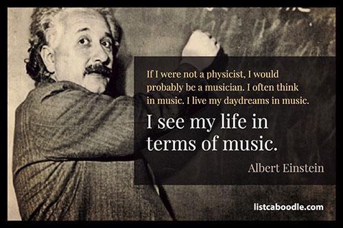 Einstein music quote