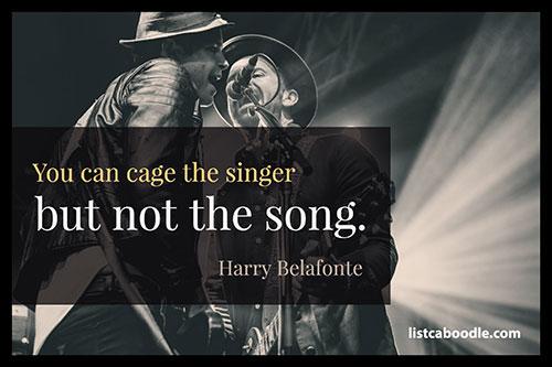 Harry Bellafonte song quote