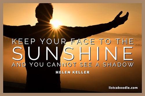 Short positive quotes: Helen Keller quote