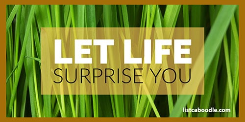 cute short quotes on let life surprise you image