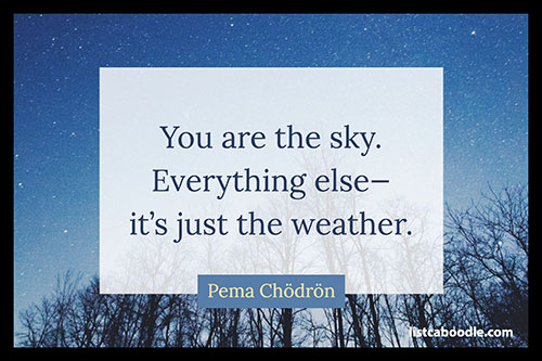 Short quotes about life: Pema Chodron quote