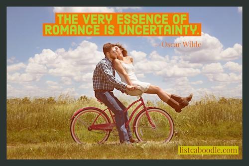 romance is uncertainty meme