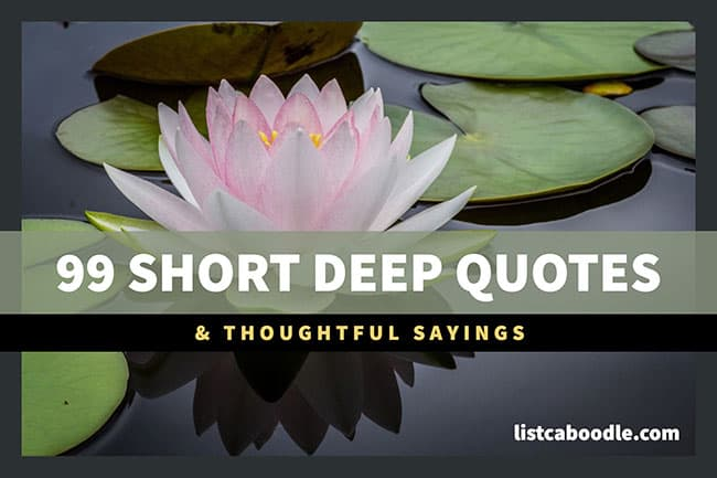 99 Short Deep Quotes To Feed Your Mind Listcaboodlecom