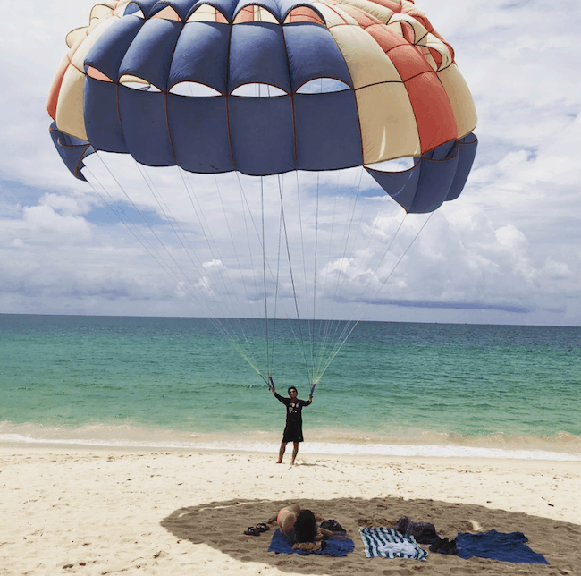 Visit Thailand: Parachute on the Thailand beach image