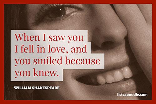 Short love quotes: Bard saying