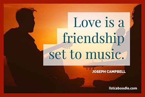 Short love quotes: Campbell saying