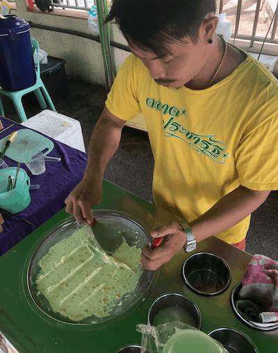 Thai rolled ice cream image