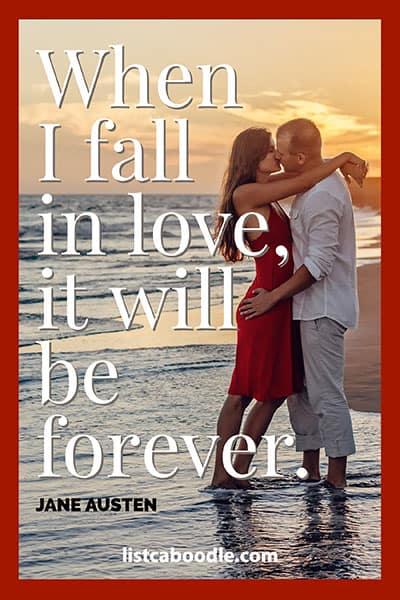 Short love quotes: Jane Austen quote