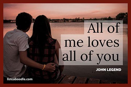 Short love quotes: John Legend quote