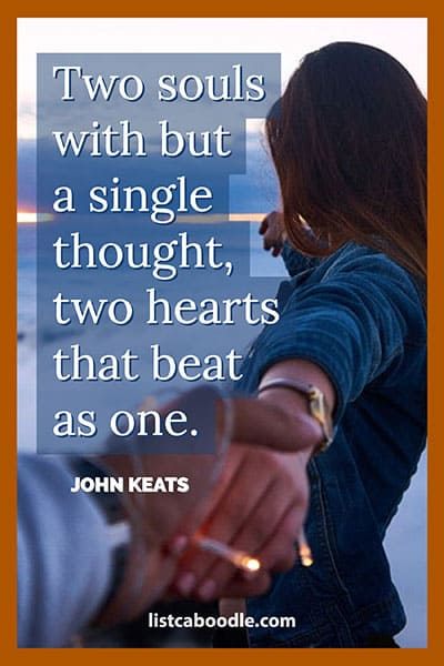 Short love quotes: Keats quote