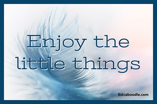 Tattoo Quotes: Enjoy the little things meme