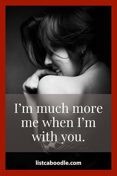 Short love quotes: Me with you saying