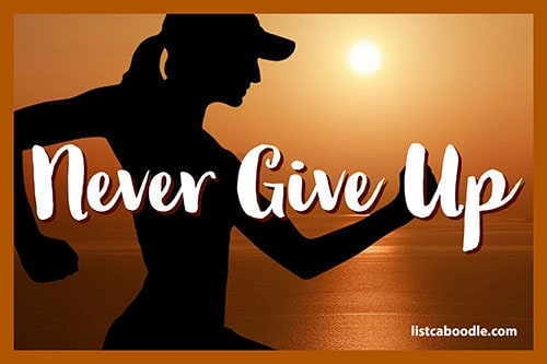 Tattoo Quotes: Never give up meme