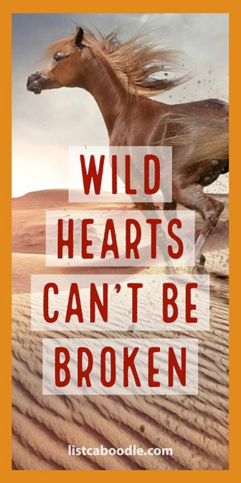 Tattoo Quotes: Wild hearts quote