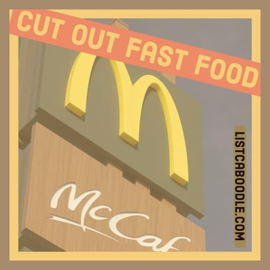 Reduce fast food intake image