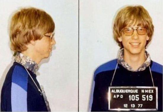Famous mugshots: Bill Gates photo
