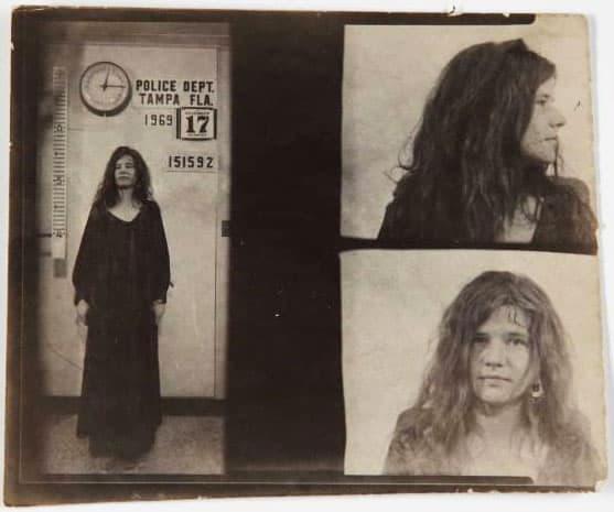 Janis Joplin arrested