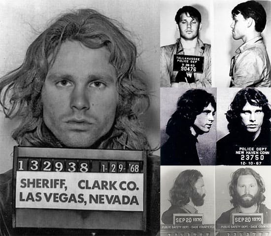 Famous mugshots: Jim Morrison mugshots