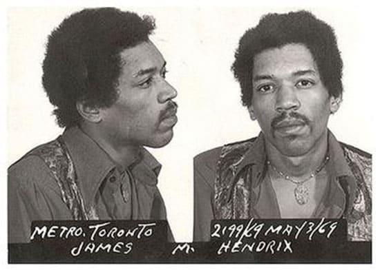 Jimi Hendrix arrest