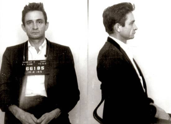 Famous mugshots: Johnny Cash arrested