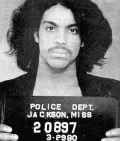 Prince famous mugshot