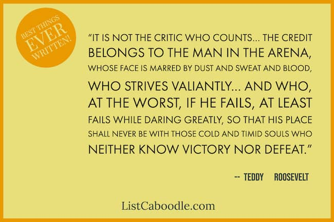 Great Teddy Roosevelt quote image