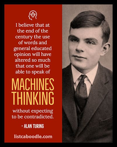 Alan Turing machine thinking visual