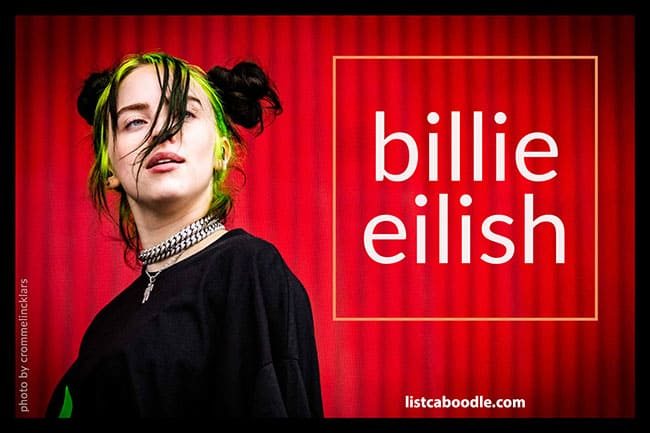 Billie Eilish fun facts