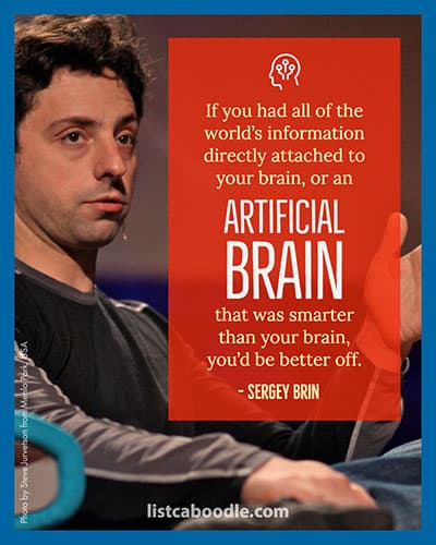 Sergey Brin artificial intelligence quotes