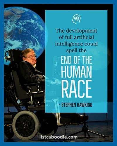 Stephen Hawking warning quote