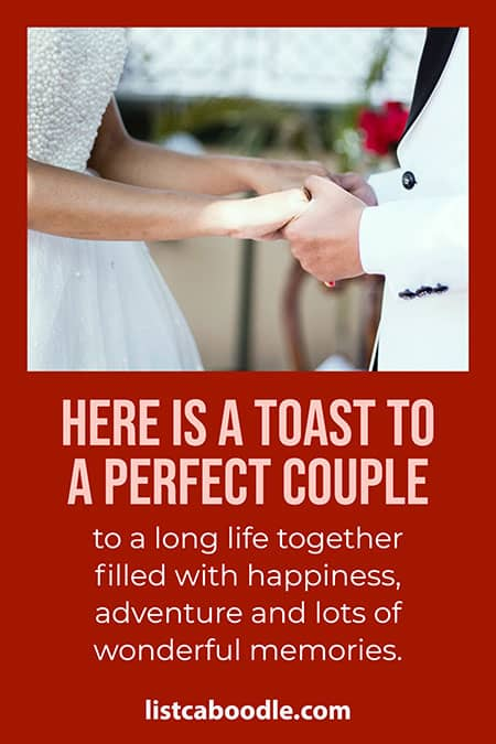 Perfect couple best man toast image