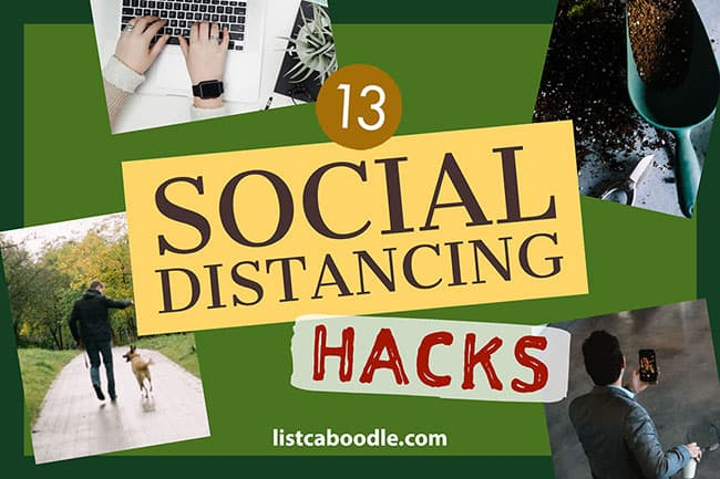 Creative social distancing hacks image